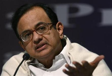 P. Chidambaram speaks during a news conference in New Delhi February 29, 2008. REUTERS/B Mathur/Files