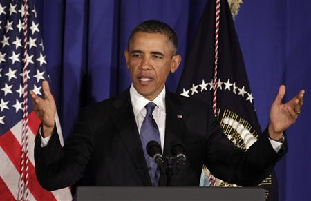 U.S. President Barack Obama delivers remarks at the Business Council in Washington February 27, 2013. REUTERS/Yuri Gripas