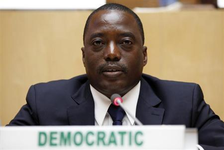 Democratic Republic Congo's President Joseph Kabila attends the signing ceremony of the Peace, Security and Cooperation Framework for the Democratic Republic of Congo and the Great Lakes, at the African Union Headquarters in Ethiopia's capital Addis Ababa, February 24, 2013. REUTERS/Tiksa Negeri