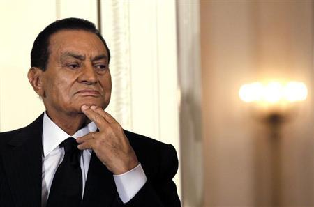 Hosni Mubarak attends a Middle East peace talks event in the East Room at the White House in Washington September 1, 2010. REUTERS/Jason Reed