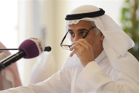 Saudi Central Bank Governor Fahad al-Mubarak looks on during a news conference in Riyadh March 3, 2013. REUTERS/Faisal Al Nasser