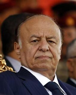 Yemen's President Abd-Rabbu Mansour Hadi attends a parade marking the 22nd anniversary of Yemen's reunification in Sanaa May 22, 2012. REUTERS/Khaled Abdullah