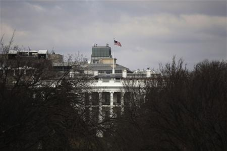 The White House is seen through trees from the National Mall in Washington, March 3, 2013. REUTERS/Jonathan Ernst