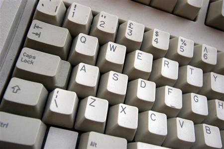 A picture of a computer keyboard. OFFPO REUTERS/Catherine Benson