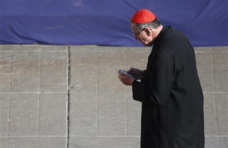 Cardinal Roger Mahony of the U.S. attends the last general audience of Pope Benedict XVI in St Peter's Square at the Vatican February 27, 2013. REUTERS/Tony Gentile