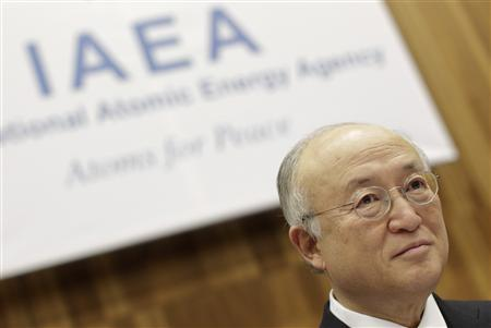 Iran's International Atomic Energy Agency (IAEA) Director General Yukiya Amano reacts as he attends a board of governors meeting at the UN headquarters in Vienna March 4, 2013. REUTERS/Herwig Prammer
