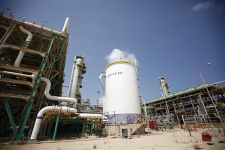 A view of the Mellitah Oil and Gas complex during a handover ceremony in Mellitah, 80 km west Tripoli September 6, 2011. REUTERS/Zohra Bensemra