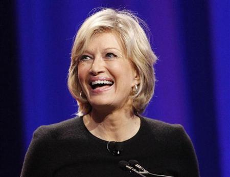 Journalist Diane Sawyer speaks during the lunch session of The Women's Conference 2010 in Long Beach, California October 26, 2010. REUTERS/Mario Anzuoni