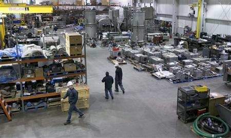 Plant workers walk through the Machine Shop at the Beef Products Inc (BPI) facility in South Sioux City, Nebraska November 19, 2012. REUTERS/Lane Hickenbottom