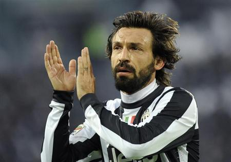 Juventus' Andrea Pirlo reacts during his Italian Serie A match against Atalanta at the Juventus stadium in Turin December 16, 2012. REUTERS/Giorgio Perottino