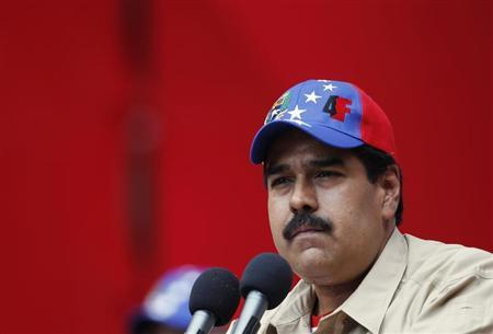 Venezuela's Vice President Nicolas Maduro pauses during his speech at a rally in Caracas February 27, 2013. REUTERS/Carlos Garcia Rawlins