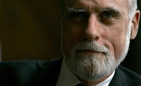 Google Vice-President and Chief Internet Evangelist Vinton Cerf looks on during a news conference in Sofia July 4, 2006. REUTERS/Stoyan Nenov