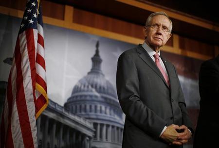 Senate Majority Leader Harry Reid (D-NV) stands on Capitol Hill in Washington February 28, 2013. REUTERS/Jason Reed