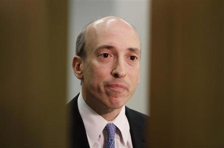 Gary Gensler, chairman of the Commodity Futures Trading Commission (CFTC), listens during an interview with Reuters in London October 2, 2012. REUTERS/Simon Newman