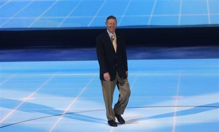 Ford Chief Executive Officer Alan Mulally arrives for his company's press availability at the North American International Auto Show in Detroit, Michigan January 15, 2013. REUTERS/Rebecca Cook