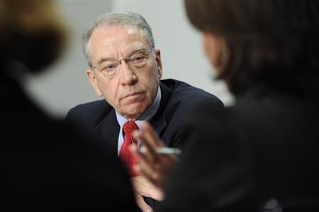 Senator Charles Grassley (R-IA) listens to a question during the 2009 Reuters Washington Summit in Washington, October 19, 2009. REUTERS/Jonathan Ernst