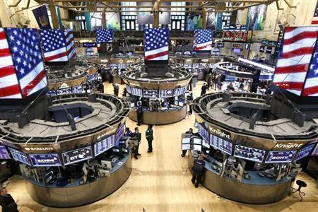 The trading floor of the New York Stock Exchange is seen ahead of the closing bell in New York on March 5, 2013. REUTERS/Brendan McDermid
