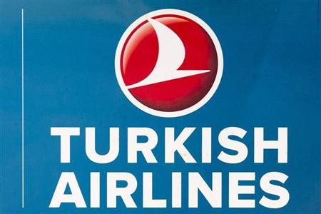 A picture shows the Turkish Airlines logo at Berlin's Tegel Airport November 6, 2012. REUTERS/Thomas Peter