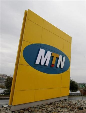 The logo of South Africa's MTN Group is seen on signage outside the company's headquarters in Johannesburg, May 27, 2008. REUTERS/Mike Hutchings