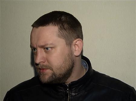 Yury Zarutsky, suspected attacker of Bolshoi Theatre artistic director Sergei Filin, answers questions after his arrest in Moscow in this still image released by the press service of the Russian Interior Ministry March 6, 2013. REUTERS/Handout/Interior Ministry Press Service via Reuters TV