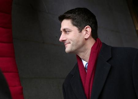 Rep. Paul Ryan (R-WI) arrives for the Barack Obama second presidential inauguration on the West Front of the U.S. Capitol January 21, 2013 in Washington. REUTERS/Win McNamee-POOL
