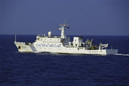 Chinese marine surveillance ship Haijian No.75 cruises in waters about 5 km northwest of one of the disputed islands called Senkaku in Japan and Diaoyu in China, in the East China Sea, in this October 25, 2012 file handout photograph provided by Japan Coast Guard's 11th Regional Coast Guard headquarters. REUTERS/11th Regional Coast Guard Headquarters-Japan Coast Guard/Handout/Files