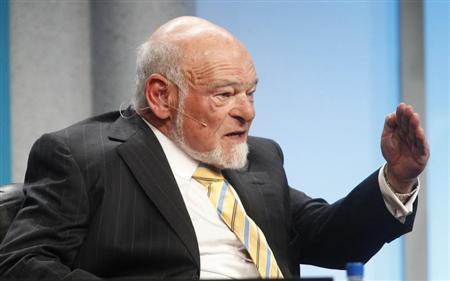 Sam Zell, chairman of Equity Group Investments, speaks during ''The Changing Winds in the Real Estate Market'' panel session at the Milken Institute Global Conference in Beverly Hills, California April 30, 2012. REUTERS/Fred Prouser
