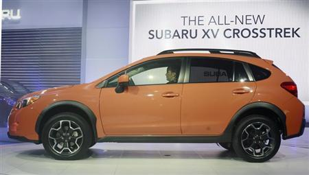 The 2013 Subaru XV Crosstrek is seen at the 2012 New York International Auto Show at the Javits Center in New York, April 5, 2012. REUTERS/Allison Joyce