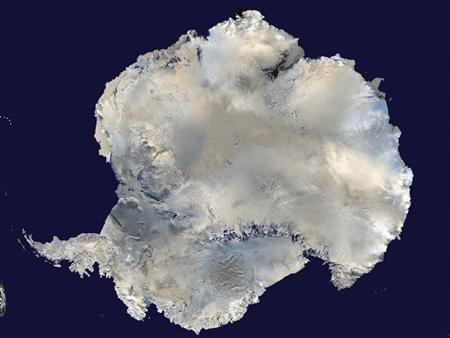A satellite view of Antarctica is seen in this undated NASA handout photo obtained by Reuters February 6, 2012. REUTERS/NASA/Handout