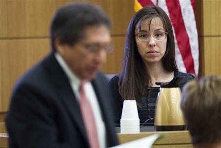 Jodi Arias is questioned by prosecutor Juan Martinez in Maricopa County Superior Court in Phoenix, March 5, 2013. REUTERS/Tom Tingle/The Arizona Republic/Pool