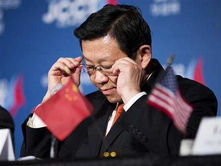 Chinese Minister of Commerce Chen Deming attends a news conference during the 23rd session of the U.S.-China Joint Commission on Commerce and Trade (JCCT) in Washington December 19, 2012. REUTERS/Joshua Roberts