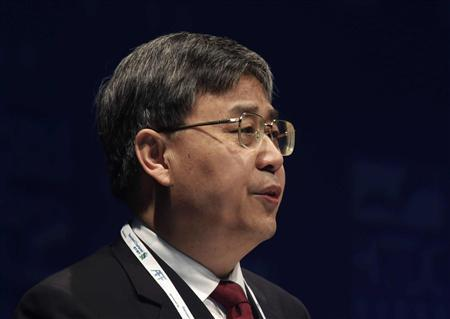 China Securities Regulatory Commission (CSRC) Chairman Guo Shuqing addresses the Asian Financial Forum in Hong Kong in this January 14, 2013 file photo. REUTERS/Bobby Yip/Files