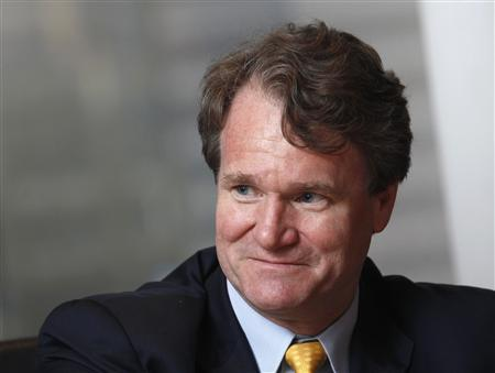 Bank of America Chief Executive Brian Moynihan smiles during an interview in Hong Kong March 8, 2013. REUTERS/Bobby Yip