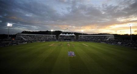 A general view of the Ageas Bowl during the second one-day international cricket match between England and South Africa in Southampton, England August 28, 2012. REUTERS/Philip Brown/Files