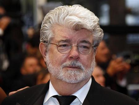 Director George Lucas arrives on the red carpet ahead of the screening of the film ''Cosmopolis'' in competition at the 65th Cannes Film Festival May 25, 2012. REUTERS/Jean-Paul Pelissier
