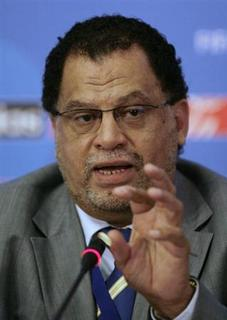 Danny Jordaan, chief executive of the country's 2010 World Cup organising committee, speaks during the pre-draw media briefing for the Confederation Cup in Sandton, Johannesburg, November 21, 2008. REUTERS/Siphiwe Sibeko/Files