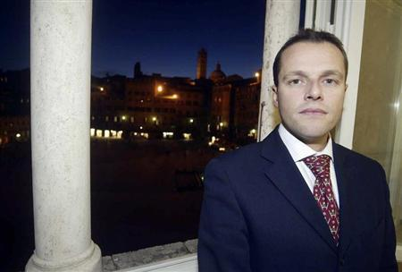 David Rossi, the spokesman of Monte Paschi di Siena, is seen in this undated photo. REUTERS/Stringer