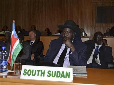 South Sudan President Salva Kiir attends the 20th Ordinary Session of the Assembly of Heads of State and Governments at the African Union (AU) headquarters in the Ethiopian capital Addis Ababa January 25, 2013. REUTERS/Tiksa Negeri
