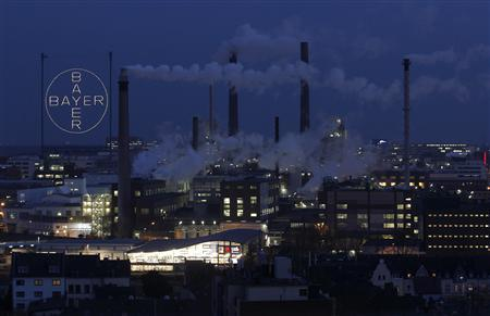 A plant belonging to Germany's largest drugmaker Bayer is seen in Leverkusen February 22, 2013. REUTERS/Ina Fassbender