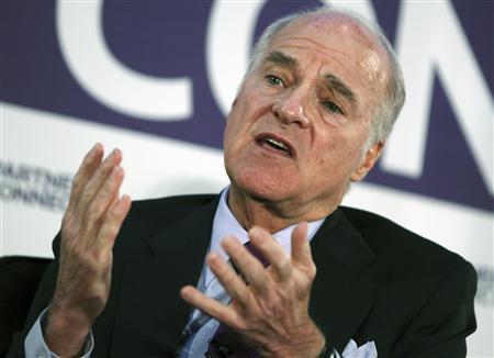 Henry Kravis of Kohlberg Kravis Roberts & Co. speaks during an interview in New York, April 3, 2012. REUTERS/Shannon Stapleton