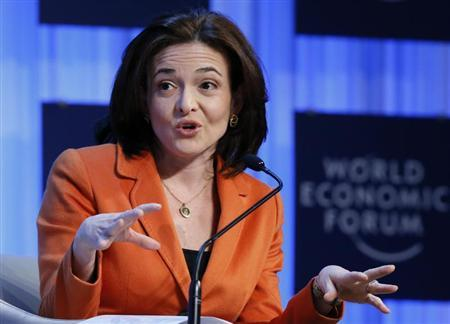 Sheryl Sandberg CEO Facebook attends the annual meeting of the World Economic Forum (WEF) in Davos January 25, 2013. REUTERS/Pascal Lauener