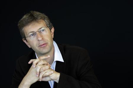 Stentys Chief Executive Officer Gonzague Issenmann speaks to Reuters June 1, 2011 ahead of a Biotech Forum in Paris. REUTERS/Jacky Naegelen