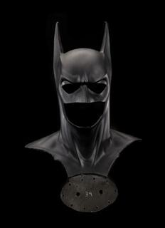 The Batman mask and cowl from the 1995 film ''Batman Forever'' is pictured in this undated publicity photograph released to Reuters March 8, 2013. REUTERS/Courtesy Smithsonian Institution/Handout
