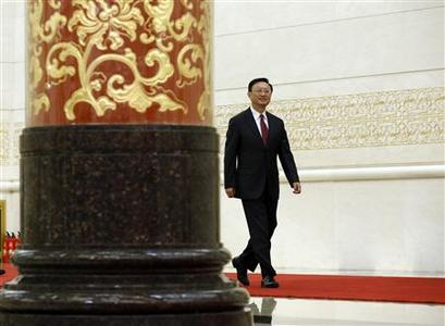 Chinese Foreign Minister Yang Jiechi enters a venue for a news conference at the Great Hall of the People, the venue of the National People's Congress (NPC), in Beijing March 9, 2013. Yang said on Saturday sanctions were not the ''fundamental'' way to resolve North Korea-related issues and all sides should exercise calm and restraint. REUTERS/Kim Kyung-Hoon