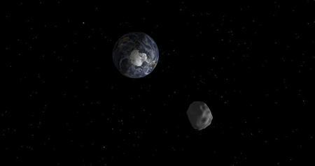The passage of asteroid 2012 DA14 through the Earth-moon system, is depicted in this handout image from NASA. REUTERS/NASA/JPL-Caltech/Handout