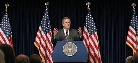 Former Governor of Florida Jeb Bush speaks while promoting his book ''Immigration Wars: Forging an American Solution'' at the Ronald Reagan Presidential Library in Simi Valley, California March 8, 2013. REUTERS/Mario Anzuoni