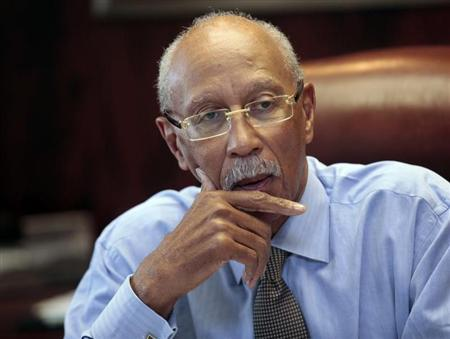 City of Detroit Mayor Dave Bing talks about the future of the city during an interview in his office in Detroit, Michigan February 5, 2013. REUTERS/ Rebecca Cook