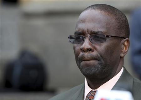 Kenya's new chief justice Willy Mutunga delivers his speech as he takes office soon after a swearing in ceremony in Kenya's capital Nairobi June 20, 2011. REUTERS/Noor Khamis