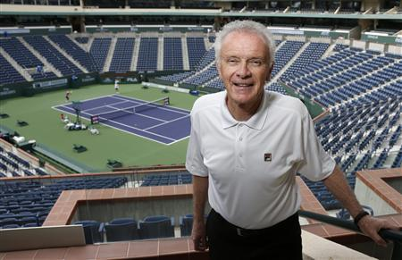 The BNP Paribas Open tennis tournament chief executive officer Raymond Moore poses at the BNP Paribas Open ATP and WTA tennis tournament in Indian Wells, California, March 7, 2013. REUTERS/Danny Moloshok