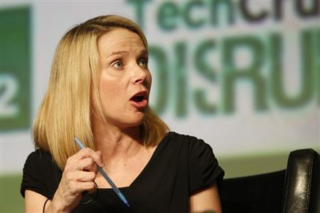 Yahoo! Chief Executive Marissa Mayer speaks during a Startup Battlefield session at TechCrunch Disrupt SF 2012 at the San Francisco Design Center Concourse in San Francisco, California September 12, 2012. REUTERS/Stephen Lam